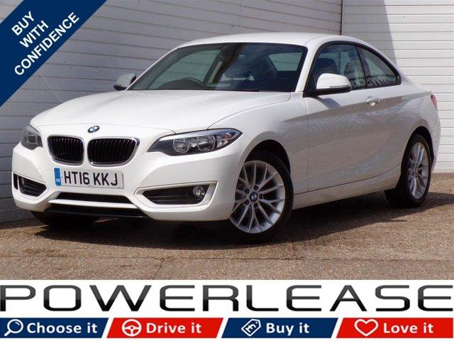 USED 2016 16 BMW 2 SERIES 2.0 218D SE 2d 148 BHP SAT NAV PARKING SENSORS FSH
