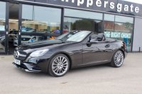 """USED 2017 67 MERCEDES-BENZ SLC 2.1 SLC 250 D AMG LINE 2d AUTO 201 BHP 1 Lady Owner From New, Obsidian Black Metallic, Sat Nav, FSH, Airscarf, Black Leather Heated Seats DAB Radio, AMG Styling, 18"""" AMG Multi Spoke Alloys,Cruise Control,   AMG Sport Package, Bluetooth Phone, AMG Floor Mats, 2 Keys and Book Pack, Balance Of Manufactures Warranty"""