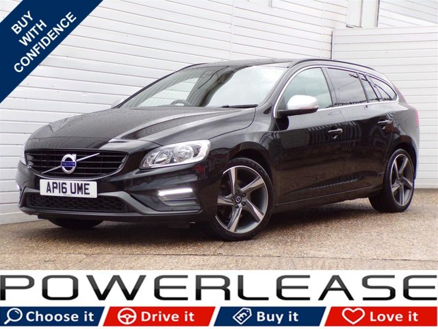 USED 2016 16 VOLVO V60 2.0 D3 R-DESIGN NAV 5d 148 BHP FSH SAT NAV 20POUNDTAX LEATHER