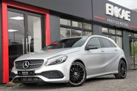 """USED 2018 18 MERCEDES-BENZ A CLASS 2.1 A 200 D AMG LINE PREMIUM 5d AUTO 134 BHP AMG LINE*NIGHT PACK*18"""" ALLOYS*1 PREVIOUS OWNER*PREMIUM AUTO*A200 MODEL*KEY-LESS START*HEATED SEATS*ELECTRIC MIRRORS*REVERSE CAMERA* LED XENON LIGHTS*PRIVACY GLASS*DAB RADIO*PHONE PREP"""