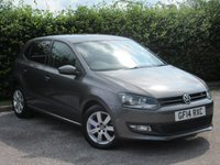 USED 2014 14 VOLKSWAGEN POLO 1.2 MATCH EDITION 5d * BLUETOOTH * TOUCH SCREEN DIGITAL INTERFACE *