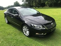USED 2013 13 VOLKSWAGEN CC 2.0 GT TDI BLUEMOTION TECHNOLOGY DSG 4d AUTO 175 BHP ***EXCELLENT FINANCE AVAILABLE***FULL LEATHER INTERIOR**AUTOMATIC**SAT NAV**