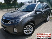 USED 2013 13 KIA SORENTO 2.2 CRDI KX-3 SAT NAV 5d AUTO 194 BHP PANROOF SATNAV LEATHER FSH FACELIFT 4WD. 7 SEATER. PANORAMIC SUNROOF. SATELLITE NAVIGATION. STUNNING SILVER MET WITH FULL BLACK LEATHER TRIM. ELECTRIC HEATED SEATS. CRUISE CONTROL. HEATED STEERING WHEEL. 18 INCH ALLOYS. COLOUR CODED TRIMS. PRIVACY GLASS. PARKING SENSORS. REVERSE CAMERA. BLUETOOTH PREP. CLIMATE CONTROL INCLUDING AIR CON. TRIP COMPUTER. R/CD PLAYER. AUTO GEARBOX. MFSW. ROOF BARS. MOT 06/20. ONE PREV OWNER. SERVICE HISTORY. SUV & 4X4 CAR CENTRE LS23 7FR. TEL 01937 849492 OPTION 2