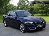 2016 BMW 2 SERIES 2.0 218D LUXURY 2d 148 BHP £11995.00