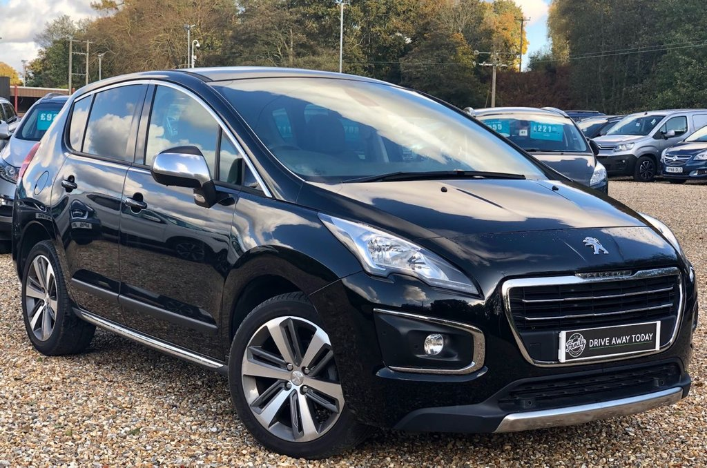 USED 2016 16 PEUGEOT 3008 1.6 BLUE HDI S/S ALLURE 5d AUTO 120 BHP ONE OWNER, FULL PEUGEOT SERVICE HISTORY, LOW MILEAGE AND FULLY AUTOMATIC.