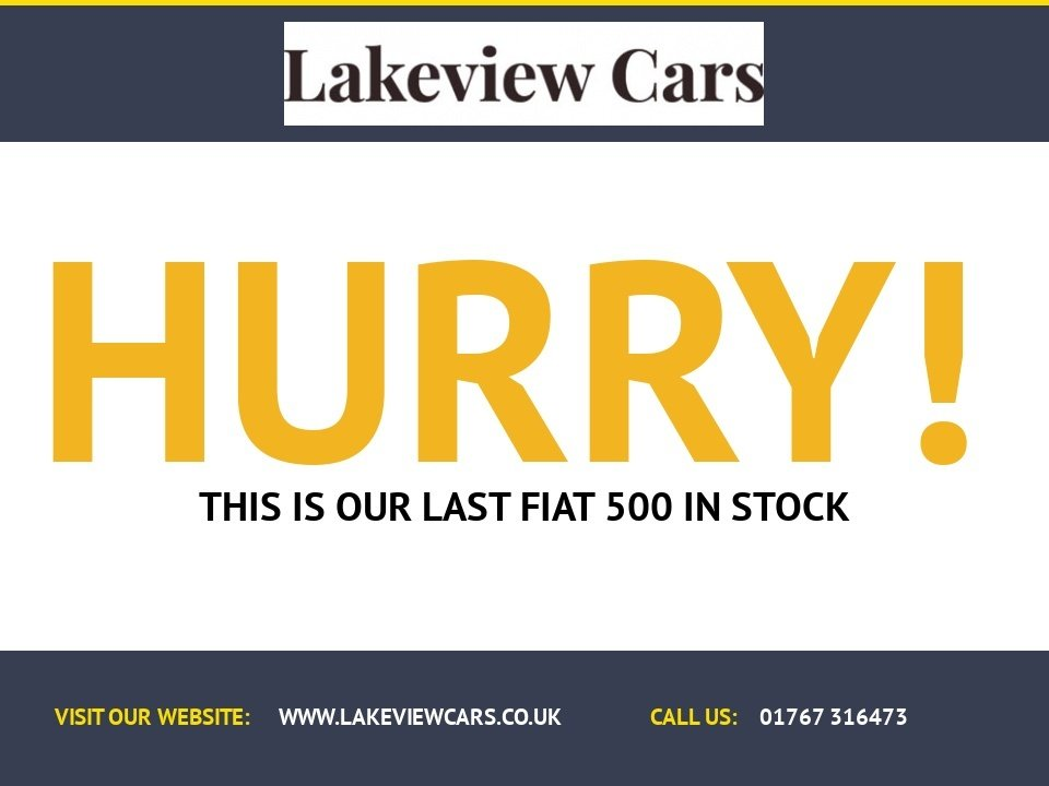 USED 2016 66 FIAT 500 1.2 LOUNGE 3d 69 BHP ** PANORAMIC GLASS SUNROOF **