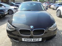 USED 2013 13 BMW 1 SERIES 1.6 116D EFFICIENTDYNAMICS 5d 114 BHP Excellent Condition, Low Road Tax, No Deposit Finance Available, Part Exchange Welcomed