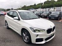 USED 2016 66 BMW X1 2.0 XDRIVE25D M SPORT 5d AUTO 228 BHP Mineral White Metallic, 228bhp model with heated seats & Sat Nav ++