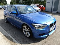 USED 2012 62 BMW 1 SERIES 2.0L 120D M SPORT 5d 181 BHP Lovely looking Blue M sport-  Sporty and practical - Great MPG and Low tax.