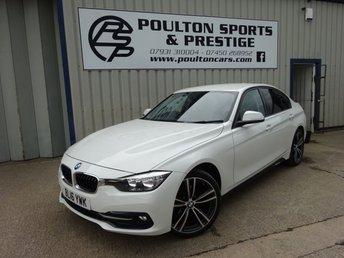 2016 BMW 3 SERIES 2.0 318D SPORT + 22K + 19 INCH ALLOYS + SAT NAV + 2 KEYS + PRIVACY £16995.00