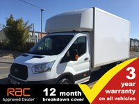 USED 2015 15 FORD TRANSIT LUTON 2.2 350 LWB L4 DRW 125ps (No Tail Lift)
