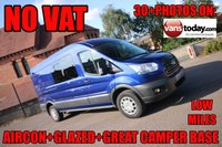 USED 2015 65 FORD TRANSIT 2.2 350 TREND AIR CON + GLAZING + IDEAL CAMPER VAN BASE + NO VAT IDEAL CAMPER BASE + AIR CON + A RARE FIND