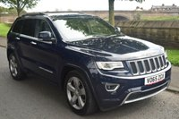 USED 2015 65 JEEP GRAND CHEROKEE 3.0 V6 CRD OVERLAND 5d AUTO 247 BHP SERVICE HISTORY, MEGA SPEC, HEATED AND COOLING LEATHER SEATS, REAR PRIVACY GLASS, BLUETOOTH, DIGITAL RADIO