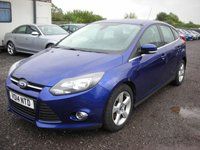USED 2014 14 FORD FOCUS 1.6 ZETEC NAVIGATOR ECONETIC TDCI START/STOP 5d 104 BHP 1 Previous owner - Free road tax