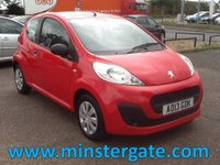 2013 PEUGEOT 107 1.0 ACCESS 3d 68 BHP * 42000 MILES, HISTORY, £0 ROAD TAX * £3190.00