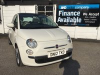 2012 FIAT 500 0.9 LOUNGE 3d 85 BHP B/TOOTH-PAN ROOF-USB £4490.00