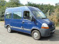 USED 2008 58 RENAULT MASTER 2.5DCI SM33 100BHP SWB MED ROOF DISABLED PASSENGER MINI BUS +ONLY 30K+1 OWNER+RICON LIFT+