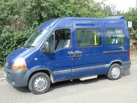 2008 RENAULT MASTER 2.5DCI SM33 100BHP SWB MED ROOF DISABLED PASSENGER MINI BUS £6695.00