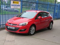 USED 2013 62 VAUXHALL ASTRA 1.4 ACTIVE 5dr Cruise Alloys Air con Finance arranged Part exchange available Open 7 days