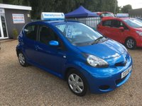 USED 2011 11 TOYOTA AYGO 1.0 VVT-I BLUE 5d 67 BHP FULL MAIN DEALER SERVICE HISTORY - FINANCE AVAILABLE