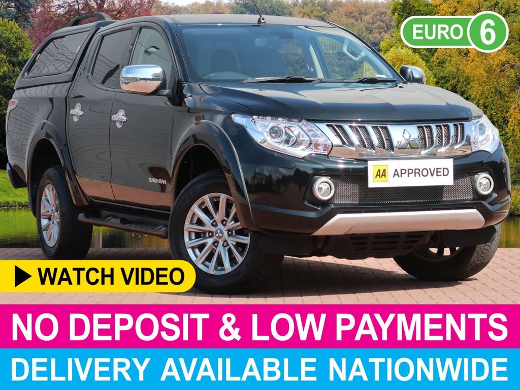 USED 2017 66 MITSUBISHI L200 2.4 DI-D BARBARIAN AUTOMATIC DOUBLE CAB HARDTOP CANOPY EURO 6 SATELLITE NAVIGATION HARDTOP CANOPY FULL LEATHER