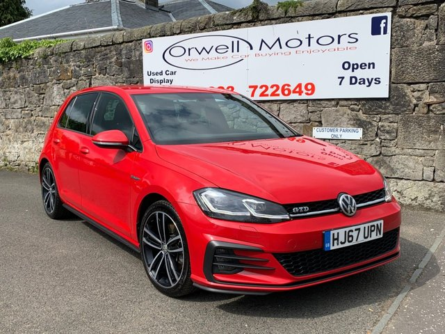 USED 2017 67 VOLKSWAGEN GOLF 2.0 GTD TDI 5d 182 BHP 1 OWNER+LOW RATE FINANCE AVAILABLE+SATELLITE NAVIGATION+CRUISE CONTROL