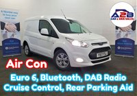 2017 FORD TRANSIT CONNECT 1.5 200 LIMITED 120 BHP in White, One Owner, Euro 6, Air Con, Bluetooth Connectivity and more... £10480.00