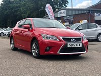 USED 2015 15 LEXUS CT 1.8 200H ADVANCE PLUS 5d AUTO 134 BHP NAVIGATION SYSTEM *  BLUETOOTH * 1 OWNER FROM NEW *  SERVICE RECORD *  PARKING AID *  DAB RADIO *