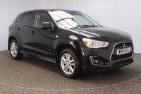 USED 2014 14 MITSUBISHI ASX 2.3 DI-D 4 5DR AUTO SAT NAV HEATED LEATHER 147 BHP SERVICE HISTORY + HEATED LEATHER SEATS + SATELLITE NAVIGATION + REVERSE CAMERA + PANORAMIC ROOF + BLUETOOTH + CRUISE CONTROL + CLIMATE CONTROL + MULTI FUNCTION WHEEL + XENON HEADLIGHTS + PRIVACY GLASS + DAB RADIO + ELECTRIC WINDOWS + ELECTRIC MIRRORS + 17 INCH ALLOY WHEELS