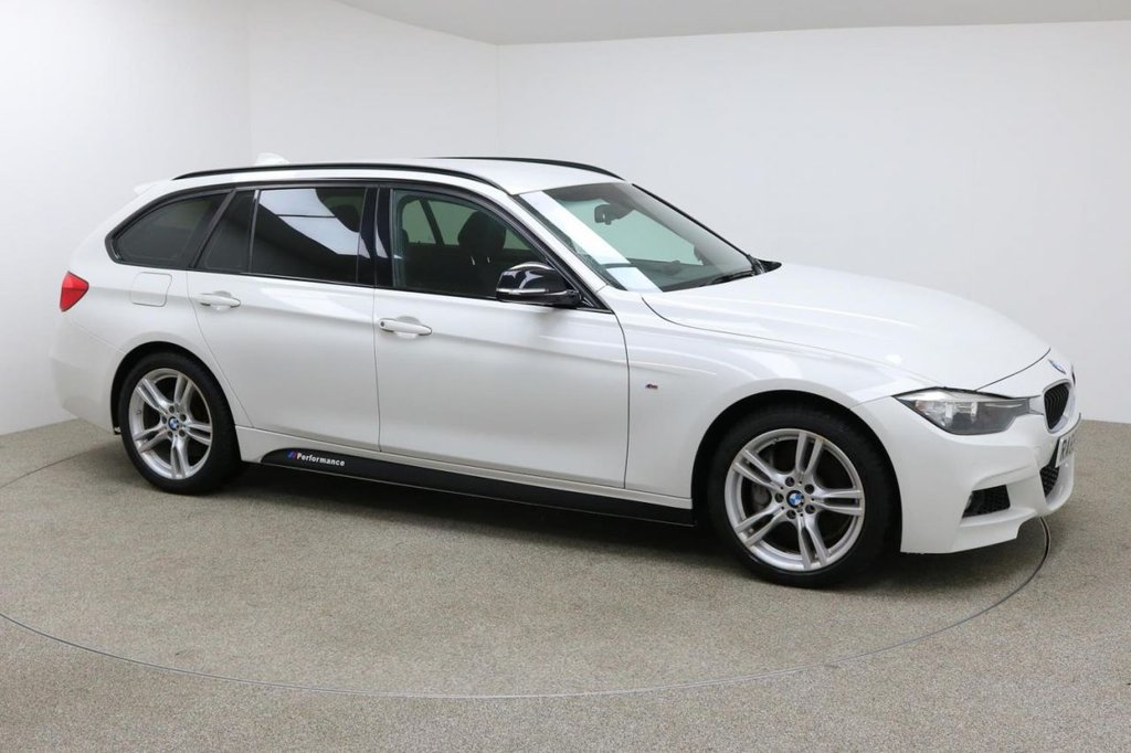 USED 2015 65 BMW 3 SERIES 3.0 335D XDRIVE M SPORT TOURING 5d AUTO 308 BHP Finished in a stunning white + SAT NAV + BLUETOOTH + FULL SERVICE HISTORY + 1 OWNER + ELECTRIC BOOT OPENING + FRONT AND REAR PARKING SENSORS