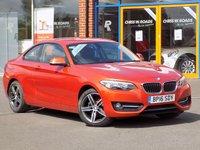 USED 2016 16 BMW 2 SERIES 2.0 218d Sport 2dr (Nav) *Nav + Heated Seats + F/R PDC*