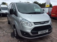 USED 2016 66 FORD TRANSIT CUSTOM SWB 2.2 290 TREND LR 124 BHP 1 OWNER FSH MANUFACTURER'S WARRANTY EURO 5 SPARE KEY 6 SPEED BLUETOOTH CRUISE CONTROL ELECTRIC WINDOWS AND MIRRORS FRONT AND REAR PARKING SENSORS