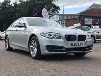 USED 2013 63 BMW 5 SERIES 2.0 520D SE 4d AUTO 181 BHP NAVIGATION SYSTEM + BLUETOOTH * LEATHER *FRONT AND REAR PARKING AID * HEATED SEATS * DAB RADIO * FULL YEARS MOT *