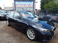 USED 2014 64 BMW 3 SERIES 2.0 320D EFFICIENTDYNAMICS BUSINESS TOURING 5d 161 BHP BLACK LEATHER, SAT NAV, BLUETOOTH, SERVICE HISTORY