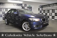 USED 2016 16 BMW 2 SERIES 1.5 218I SE 2d AUTO 134 BHP ONE OWNER VEHICLE FROM NEW IN DEEP SEA BLUE.  12 MONTHS MOT