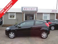 USED 2011 11 FORD FIESTA 1.2 EDGE 3DR HATCHBACK 59 BHP