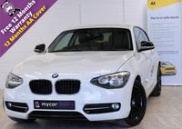 USED 2013 63 BMW 1 SERIES 2.0 116D SPORT 3d 114 BHP FULL SERVICE HISTORY, DAB, BLACK PACK
