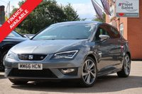 USED 2016 66 SEAT LEON 2.0 TDI FR TITANIUM 3d 181 BHP SATELLITE NAVIGATION + REMAINING MANUFACTURERS WARRANTY