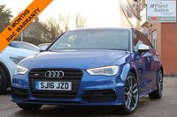 USED 2016 16 AUDI A3 2.0 S3 QUATTRO NAV 3d 296 BHP QUILTED EMBOSSED SEATS, HEATED SEATS, BANG AND OLUFSEN