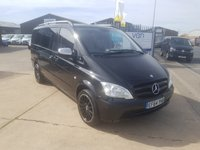 2015 MERCEDES-BENZ VITO 2.1 116 CDI DUALINER 6 SEAT CREW VAN 163 BHP 18in black twist alloy and fully body colored bumper and door handles  £13495.00