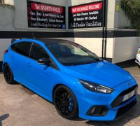USED 2017 67 FORD FOCUS RS EDITION 2.3 5DR 345 BHP, WARRANTY UNTIL DEC 2022. FORD SYNC 3 NAV, FORGED ALLOYS & DOOR EDGE PROTECTORS.