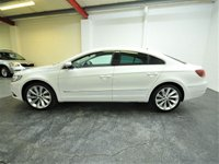 USED 2014 64 VOLKSWAGEN CC 2.0 GT TDI BLUEMOTION TECHNOLOGY DSG 4d AUTO 138 BHP 1 OWNER + FULL VW HISTORY + FULL HEATED LEATHER + SAT NAV + CAMBELT CHANGED