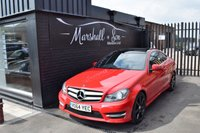 USED 2014 64 MERCEDES-BENZ C CLASS 2.1 C220 CDI AMG SPORT EDITION PREMIUM PLUS 2d AUTO 168 BHP LOW MILES - TOP AMG SPORT PREMIUM PLUS - S/H TO 21K - NAV - HALF LEATHER - GLASS PANROOF - H/SEATS - R/CAMERA