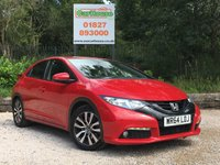 USED 2014 64 HONDA CIVIC 1.6 I-DTEC SE+ PLUS 5dr Camera, PDC, 1 Owner, £0 Tax