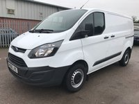 2016 FORD TRANSIT CUSTOM 2.0 290 105 BHP SWB L1 EURO 6 **VERY LOW MILES*** £12195.00