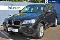 USED 2013 63 BMW X3 XDRIVE 2.0D SE 5d AUTO 181 BHP