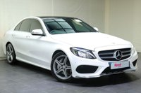 """USED 2015 15 MERCEDES-BENZ C CLASS 2.1 C250 BLUETEC AMG LINE 4d AUTO 204 BHP 18""""ALLOYS+LEATHER TRIM+1 OWNER+FULL MANUFACTURER SERVICE HISTORY+PAN ROOF+NAV+PARKING SENSORS+PRIV GLASS+BLUETOOTH"""