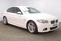 USED 2016 16 BMW 5 SERIES 2.0 520D M SPORT 4DR AUTO 188 BHP  FULL SERVICE HISTORY + HEATED LEATHER SEATS + SATELLITE NAVIGATION + PARKING SENSOR + BLUETOOTH + CRUISE CONTROL + CLIMATE CONTROL + MULTI FUNCTION WHEEL + DAB RADIO + XENON HEADLIGHTS + RADIO/CD/AUX/USB + ELECTRIC WINDOWS + ELECTRIC MIRRORS + 18 INCH ALLOY WHEELS