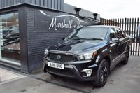 USED 2016 16 SSANGYONG KORANDO SPORTS 2.0 EX 1d AUTO 153 BHP **NO VAT** NO VAT - LOW MILES - GREAT VALUE - F/S/H TO 20K - LEATHER - HEATED SEATS - CHROME BARS - LOCKABLE REAR COVER