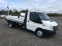 2013 FORD TRANSIT 350 100PS LWB DROPSIDE TRUCK WITH DOUBLE REAR WHEELS £8695.00